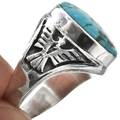 Native American Thunderbird Sterling Mens Ring 29820
