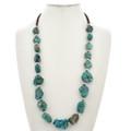 Large Turquoise Nugget Santo Domingo Necklace 29868