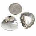 Navajo Silver Heart Earrings 20733