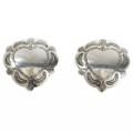 Native American Silver Heart Concho Earrings 20733