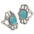 Turquoise Sterling Ladies Navajo Ring 29871