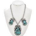 Navajo Turquoise Sterling Necklace 29883