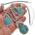 Native American Turquoise Designer Necklace 29884