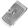 Man In The Maze Silver Money Clip 29889