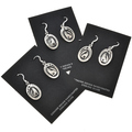 Overlaid Silver Navajo Earrings 29937