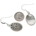 Overlaid Silver French Hook Earrings 29939