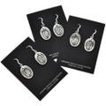 Overlaid Sterling French Hook Earrings  29942