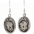 Eagle Kachina French Hook Earrings 29943