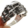 Mens Skull Pattern Ring 29944