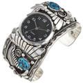 Natural Kingman Turquoise Watch Cuff 29980