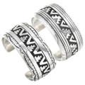 Navajo Made Pattern Sterling Silver Bracelets 29988