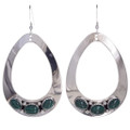 Malachite Silver Earrings 29992