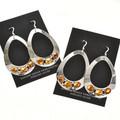 Citrine Silver Earrings Navajo Made 29993