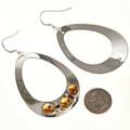 Handmade Silver Navajo Earrings Large 29993