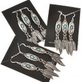 Turquoise Feather Pendant Earring Sets 29995