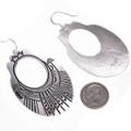 Overlaid Silver Navajo Design French Hooks Earrings 30005