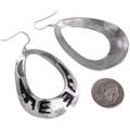 Handmade Navajo Silver Western Earrings French Hooks 30007