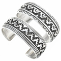 Navajo Made Sterling Silver Overlay Bracelets 30027