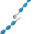 Turquoise Silver Necklace Choker 30039