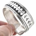 Navajo Overlaid Silver Cuff Bracelet 30206
