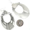 Large Navajo Pattern Dangle Earrings 30050