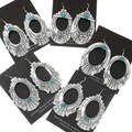 Authentic Native American Sterling Western Earrings 30053