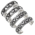 Navajo Geometric Pattern Sterling Silver Bracelet 30098