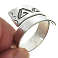 Adjustable Silver Navajo Ring 30105