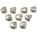 Silver Bypass Ring Adjustable Sizes 30109