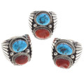 Mens Sterling Silver Turquoise Ring 30129