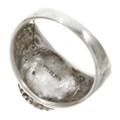 Navajo Kingman Turquoise Silver Ring 30131
