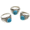 Blue Turquoise Silver Southwest Rings 30131