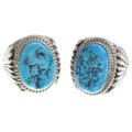 Large Turquoise Nugget Silver Ring 30132