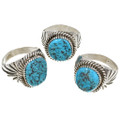 Natural Turquoise Nugget Mens Ring Any Size 30133