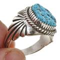 Sterling Silver Blue Turquoise Ring 30133