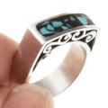 Sleek Signet Style Turquoise Ring 30171