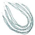 Natural Turquoise Silver Necklace 30205
