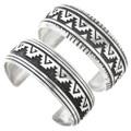 Navajo Made Overlay Sterling Bracelet 30206
