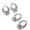 Navajo Overlay Silver Work with Turquoise 30209