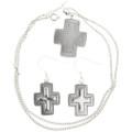 Sterling Silver Cross Pendant Set 30242