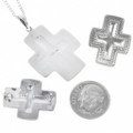 Silver Cross Pendant Set 30243