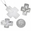 Silver Cross Pendant Set 30243