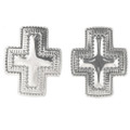 Silver Cross Post Earrings 30243