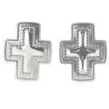 Silver Cross Post Earrings 30243