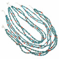 Hand Made Beaded Turquoise Nugget Necklaces 30271