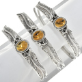 Yellow Gemstone Sterling Silver Bracelet 30292