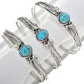 Natural Southwest Blue Turquoise Bracelet 30294