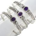 Country Western Amethyst Sterling Silver Bracelet 30295