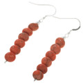 Coral Bead French Hook Earrings 30304