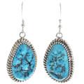 Turquoise Silver Drop Earrings 30314